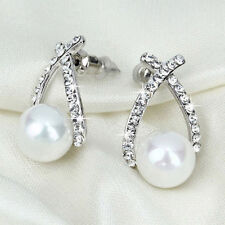 Pearl (Imitation) Alloy Stud Costume Earrings