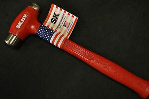 """SK 9336 36 oz Hot Cast Dead Blow Ball Peen Hammer 1.25"""" face dia 13.00"""" Made USA"""