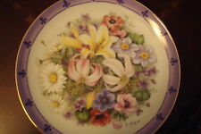 """Flowers of the World """"Flowers of France"""" plate, signed,  Danbury Mint [am14]"""