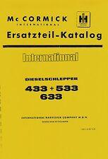Ersatzteilkatalog IHC 433 533 633 Ersatzteilliste SO