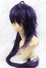 341 Magi Sinbad 100cm Purple mix long wavy Cosplay wig Free shipping + wig cap