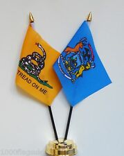 Gadsden & Michigan Double Friendship Table Flag Set