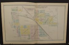 Ohio Huron County Map Chicago Junction 1891 Dbl Pg  !Y14#56