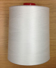One White 100% Mercerized Cotton 35/2 Thread 12000 yards Spool Cone
