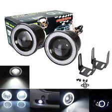 "2PC 3.5"" COB LED Fog Light Projector Car White Angel Eyes Halo Ring DRL Lamp 12V"