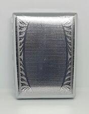 New listing Fujima Silver Metal Floral Design 100s Size Cigarette Case