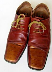 Stacy Adams Men's Corrado Brown oxford shoes lace up Leather Dress Shoes 10.5