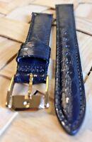 Genuine MOVADO 14mm Blue Calf Skin Watch Strap Band Brand New Retail $90.00