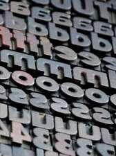 "letterpress wood printing blocks 354 pcs 0.87"" tall alphabet type woodtype rare"