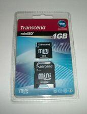 Mini SD 1GB Memory card with Mini SD Adapter