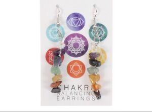 🤍💜💙💚💛🧡❤️ Gemstone Chakra Earrings