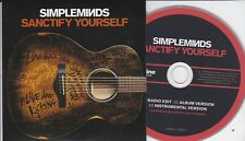 SIMPLE MINDS SANCTIFY YOURSELF RARE 3 TRACK PROMO CD [ACOUSTIC]