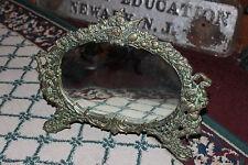 Superb Victorian Art Deco Style Vanity Mirror-Brass-Angels & Cherubs-Warner 2002