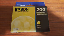 2017 GENUINE EPSON #200 YELLOW INK EXPRESSION HOME XP-200/XP-400 WORKFORCE NEW