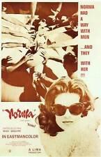 NORMA Movie POSTER 27x40 B Montserrat Caball  Jon Vickers Jos phine Veasey