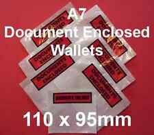 25 A7 Documents Enclosed Wallets 110 x 95mm