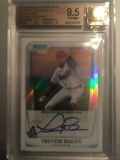 2011 Bowman Draft Trevor Bauer Refractor Auto BGS 9.5 / 10 RC 381/500 Cleveland