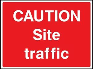 caution site traffic