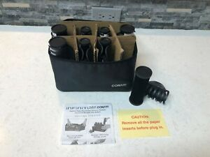 Conair Infiniti Pro Tourmaline Ceramic Flocked Conical Straight Rollers NEW CLIP