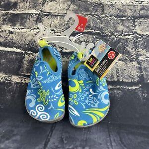 Sun Smart Size S 5/6 Beach Gear Hi-Top Water Shoes, Toddler UPF 50, Anti-Slip