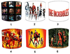 The Incredibles Lampshades Ideal To Match The Incredibles Wall Decals & Stickers