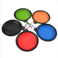 3Colors Pet Dog Portable Silicone bowl Travel Collapsible Dish Water Feeder