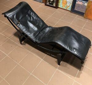 Le Corbusier Longue Chair Black Noire N11883 | Cassina Lc/4 197x | All Original
