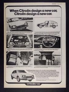 1973 Citroen GS vintage print Ad
