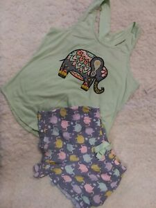Bobbie Brooks Lounge/Sleep/Pajama Shorts Set Size L NWT
