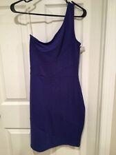 NWT Soprano Women's Off Shoulder Dress Blue Size Medium