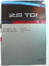 Prospetto AUDI a6 2.5 TDI con 140 PS, 6.1994, 4 pagine