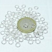900 Anillas Abiertas 5mm T122 Baño de Plata Open Jump Ring Plated Argento Anello