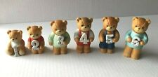 Lucy and Me Bears: Birthday Numbers Years 1-6 Porcelain Figurines from 1982