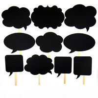 10X Speech Chalk Board Photo Booth Props Photography Xmas Wedding Party