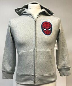 Gap Kids Marvel Spider-Man Zip Up Grey Hoodie Size Medium (8)