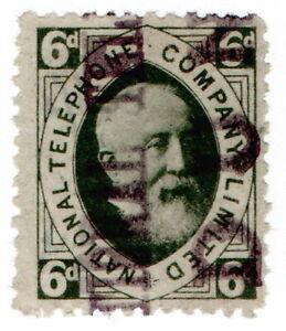 (I.B) National Telephone Company : 6d Dull Green (Dundee)