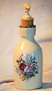 Home and Garden Party Floral Lotion Soap Pump Dispenser Stoneware Cork Stopper