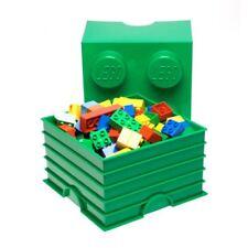 LEGO STORAGE BRICK 4 GREEN CHILDRENS TOY STORAGE CONTAINER TOY BOX NEW