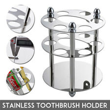 Stainless Steel Wall Mount Toothbrush&Toothpaste Holder Bathroom Razor Organizer