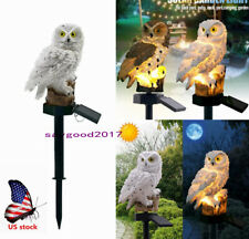 Us Solar Power Led Landscape Light Garden Lights Owl Decor Path Lawn Yard