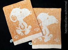 2-tlg. Waschlappen Waschhandschuh Seiftuch Seiftücher SNOOPY orange 100% Baumw.