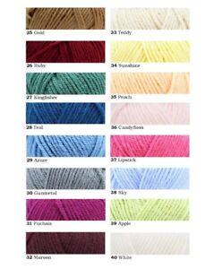 DY Choice Aran with Wool - 400g - 75% Acrylic & 25% Wool - 40 Shades