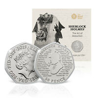 Royal Mint Sherlock Holmes 50p 2019 Official Limited Edition Fifty Pence Coin