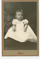 "Cabinet Photo - Close Up, Baby Girl in Long Gown, Norway, Michigan ""Lilly"""