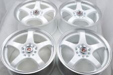 15 white Wheels Rims Camry Avalon TSX Civic Accord Integra Corolla 5x100 5x114.3