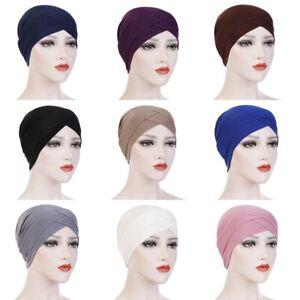 Damen Turban Haarband Chemo Mütze Hut Haarschmuck Kopfbedeckung Hijab Kopftuch