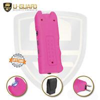 Personal Alarm Rechargeable Pink Stun Gun Flashlight Self Defense For Women Men