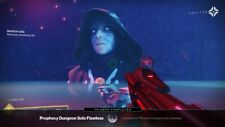 Destiny 2 Solo flawless Prophecy dungeon completion on Pc plus cross-save.