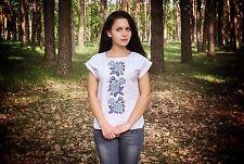 Ukrainian embroidered sorochka, blouse, vyshyvanka, embroidery, Size XL