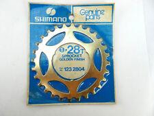 Shimano Dura Ace freewheel Cog 5 speed 28t GOLD Vintage Bike NOS